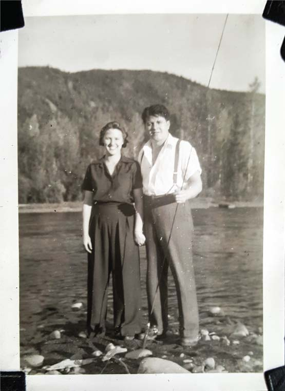 Gerard and Betty St. Jean fishing